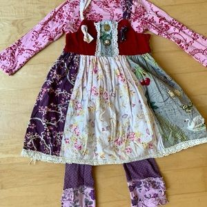 Haute Baby Girls overall dress size 4